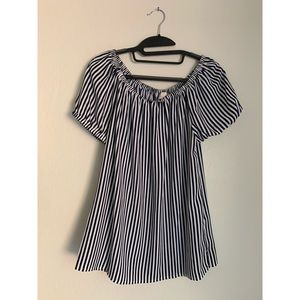 CHICOS Womens Top Shoulder Striped Blouse NWT